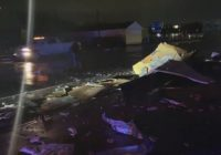 Possible tornado damage in Texas City after severe storms