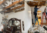 Winter storm damage at 95-year-old WWII veteran's home repaired for free after social media post