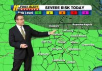 Central North Carolina under Level 1 for severe weather; strong storms with damaging winds possible later Saturday