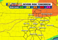 Most of North Carolina under Level 2 severe weather risk on Sunday; some counties reaching Level 3