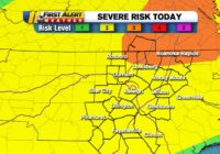 Most of North Carolina under Level 2 severe weather risk on Sunday with wind, hail and isolated tornado possible
