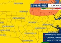 Another round of severe storms: Central NC under Level 2 risk of severe weather on Sunday