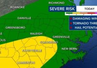 Damaging winds and hail possible Wednesday, southern counties under Level 2 threat
