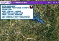Tornado touched down at Canyon Lake, NWS confirms