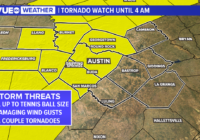 Live radar: Tornado Watch in effect for much of Central Texas until 4 a.m. Thursday