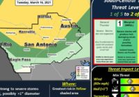 Storm Could Bring Large Hail And Damaging Winds To Austin Area Overnight