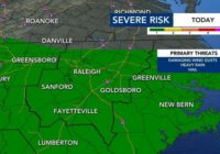 Severe Thunderstorm Watch issued as severe weather threat raised to level 2 for Triangle