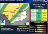 San Antonio area could see severe weather including hail and damaging winds