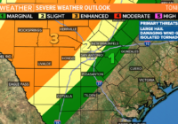 Severe thunderstorms, large hail, damaging winds possible for parts of South Texas tonight