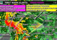 Tornado Warning in effect for Burke, McDowell, Rutherford counties until 8:15 p.m.