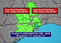 TIMELINE: Flash Flood Watch going into effect  for southeast Texas Friday morning