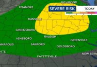 Central NC remains under Level 1 & Level 2 severe weather threat, strong winds and hail possible
