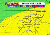 NC Weather: Severe weather risk increased to level 2 for central North Carolina