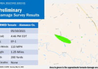 EF-1 tornado confirmed in southern Alamance County