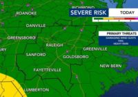 Damaging winds and hail possible for Monday's severe weather risk