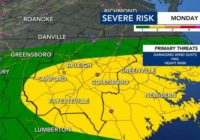 Central, eastern NC now under level 2 threat for severe weather