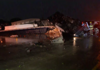 N. Texas severe weather: Wind blows over 18-wheelers, tennis ball-size hail reported