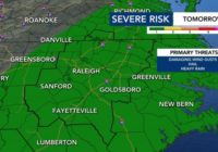 More severe weather for NC: Another wave arrives Wednesday