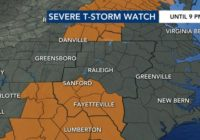 Level 1 threat: Severe weather vacates Triangle, but more on the way Wednesday