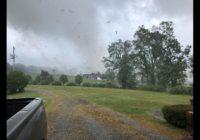 Tornado hits the Biggars farm in York county killing 4,000 turkeys on Monday.