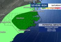 Damaging wind gusts, hail possible on Saturday during Level 1 risk for severe weather