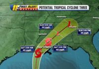 Tropical Storm Claudette expected to form today, bring rain to NC early next week