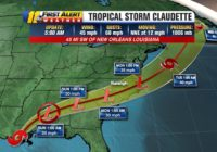 Tropical Storm Claudette expected to bring heavy rain to North Carolina Monday