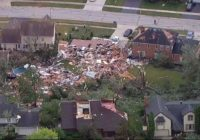 Tornado touches down in Chicago suburb, destroying homes, trees