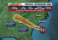 Tropical storm warning issued for South Carolina coast