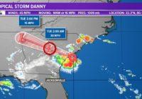 Tropics: Tropical Storm Danny stronger, warnings continue for South Carolina