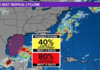 Tropics: Tropical Storm Bill over the Atlantic, Gulf cyclone forming
