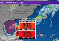Tropics: Tropical Storm warnings now up from Louisiana to the Alabama/Fl. border