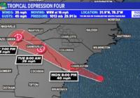 Tropical Storm Danny makes landfall long South Carolina coast