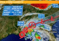 Tropics:  Tropical Storm Claudette becomes our third named storm of 2021