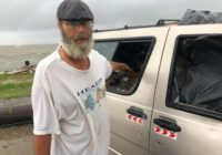 Homeless man rides out Tropical Storm Claudette near fishing pier, loses everything he owns