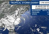 Tropical Storm Danny downgraded to tropical depression after making landfall