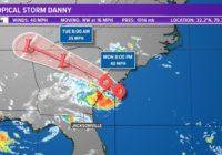 Tropics: Tropical Storm Danny. Warnings continue for South Carolina