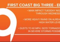 5 p.m. Update | Latest Tropical Storm Elsa projected path, models, and potential impact to First Coast