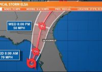 Watch Live | Latest Tropical Storm Elsa projected path, models, and potential impact to First Coast