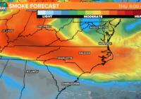 Wildfire smoke is making it hazy in the Carolinas