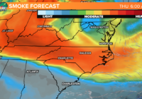 Wildfire smoke from the west is making it hazy in the Carolinas