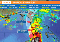 Tropical Storm Elsa expected to strengthen before Florida landfall