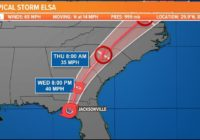 Latest Tropical Storm Elsa projected path, models, and potential impact to First Coast