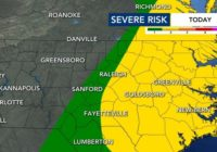 Parts of central NC under Level 2 risk for severe weather as dangerous heat moves in