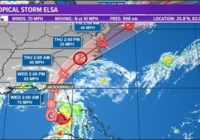 TROPICS: 8 p.m. Update | Latest Hurricane Elsa projected path, models, and potential impact to First Coast