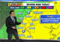 Parts of central North Carolina at risk for storms, hail and even isolated tornado