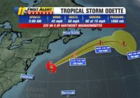 Tropical Storm Odette to increase rip current threats along North Carolina coast; no threat to land
