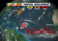Active tropics include Category 4 Hurricane Sam, 3 other systems that could get names soon