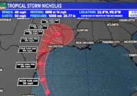 Tropical Storm Nicholas in the Gulf, several more waves with chances to develop