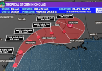 Nicholas upgrades to hurricane status as it approaches landfall in Texas